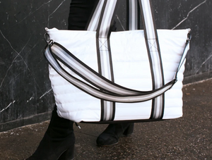 Think Royln Wingman Bag in White Patent