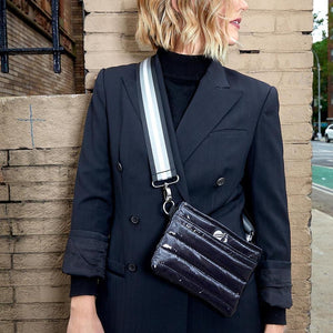 Think Royln Bum Bag/Crossbody  Black Patent