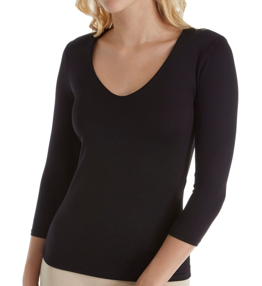 Only Hearts - Delicious 3/4 Sleeve V-Neck Black
