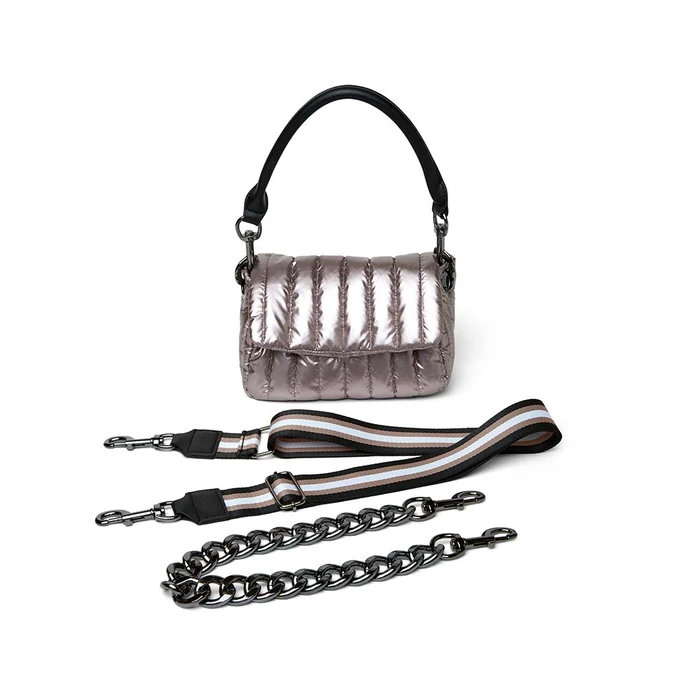 Think Royln Petite Bar Bag in Pearl Latte