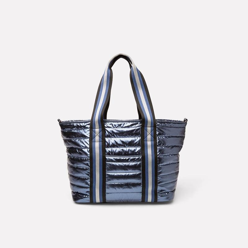 Think Royln Junior Wingman Bag  Shiny Blue Concrete