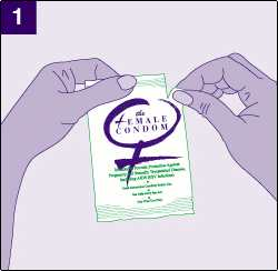 open the female condom
