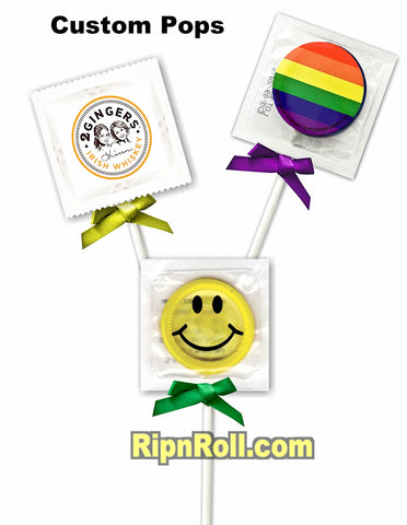 Custom Jolly Pops condoms
