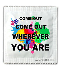 Gay Pride condoms - come out