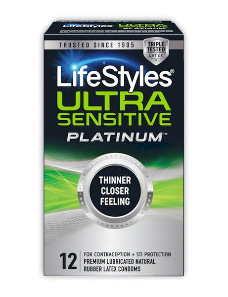 Lifestyles Platinum Condoms - NEW Ultra Sensitive Platinum