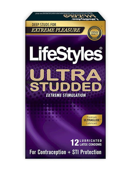 Lifestyles Ultra Studded condoms box - front