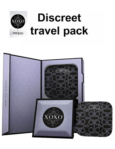 Trojan XOXO condom travel case