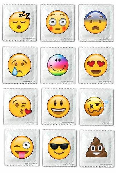 assorted emoji condoms