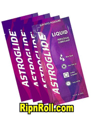 Astroglide single use foil lubricants