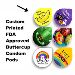 custom condom pods buttercup condoms