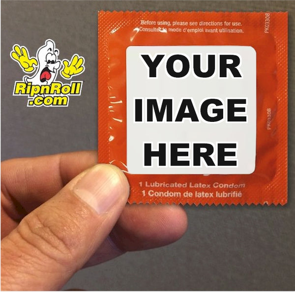 custom printed label condoms - full color printing