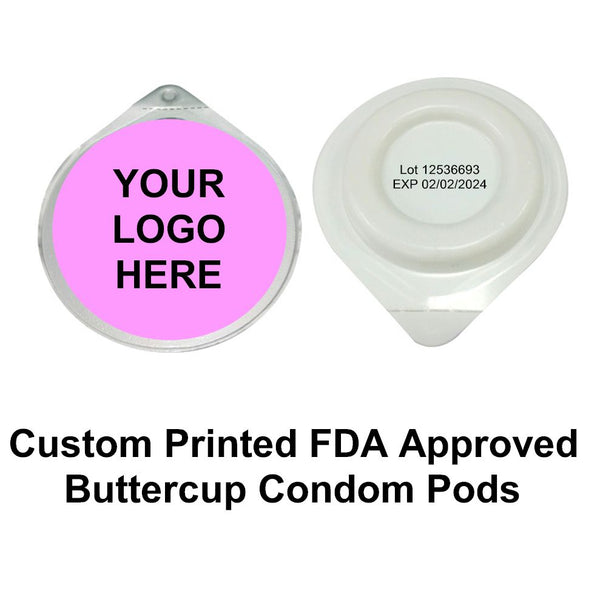 Custom Printed Buttercup Condom Pods