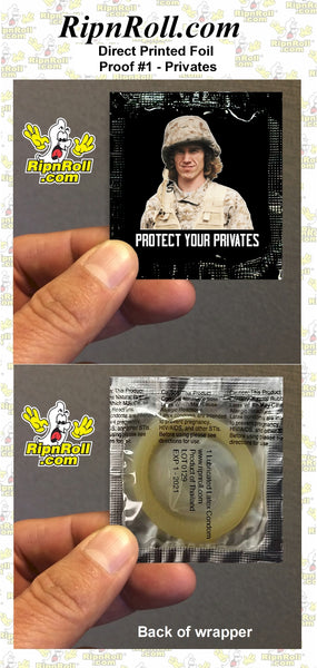 Copy of D Duncan - Protect your Privates - Direct Printed Foil