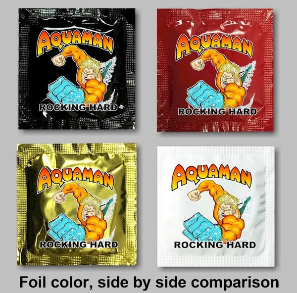 custom condom foil options