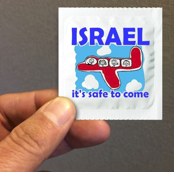 Israel it's safe to come condoms