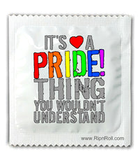 Gay Pride condoms - It's a Pride Thig