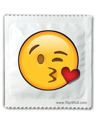 Kiss emoji condoms