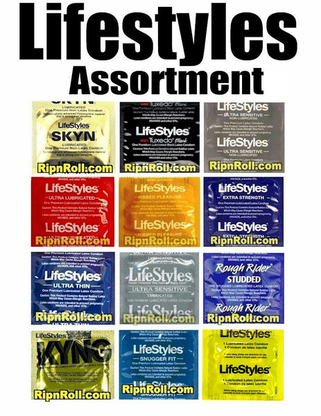 Lifestyles Condoms Assortment Sampler - RipnRoll.com