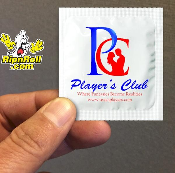 Players Club - Printed Foil condoms with Full Color imprint