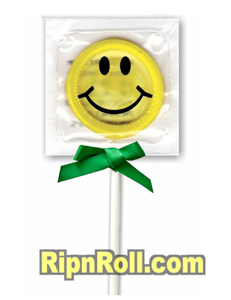 Smiley Face Condoms - RipnRoll.com