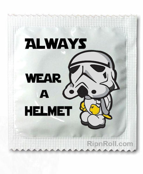 Star Wars Trooper - wear a helmet