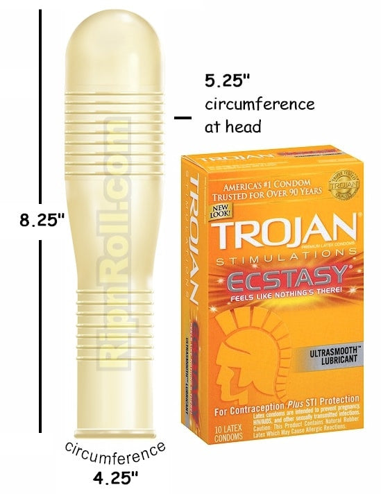 Trojan Ecstacy Ribbed Condoms Ripnrollcom
