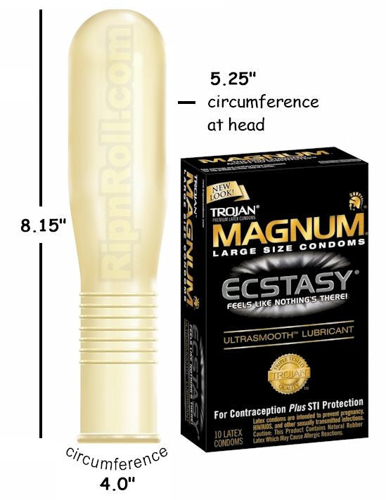 How much larger are magnum condoms