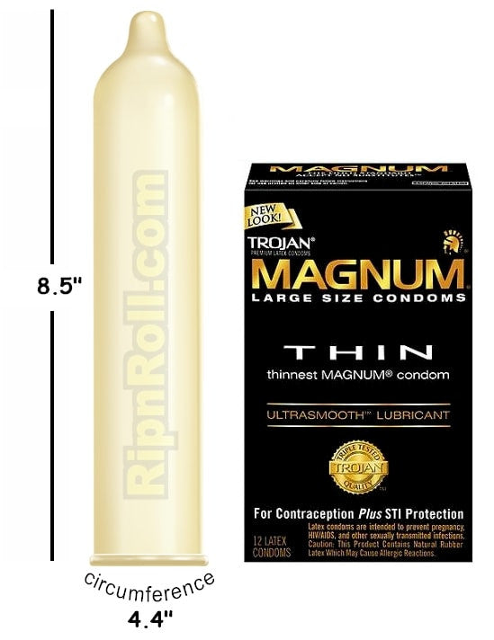 How big are trojan magnums