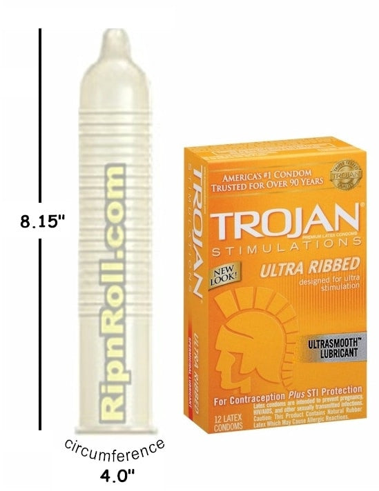 Trojan Ribbed Condoms Ripnrollcom