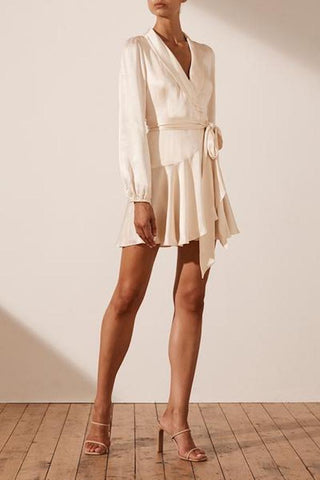 La Lune Wrap Mini Dress