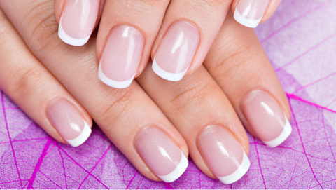 Thin French manicure