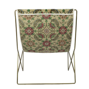 Turkish Vintage Rug Sling Chair, Brass GA124-indBE048