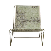 Load image into Gallery viewer, Turkish Vintage Rug Sling Chair, Brass GA126-indBE048