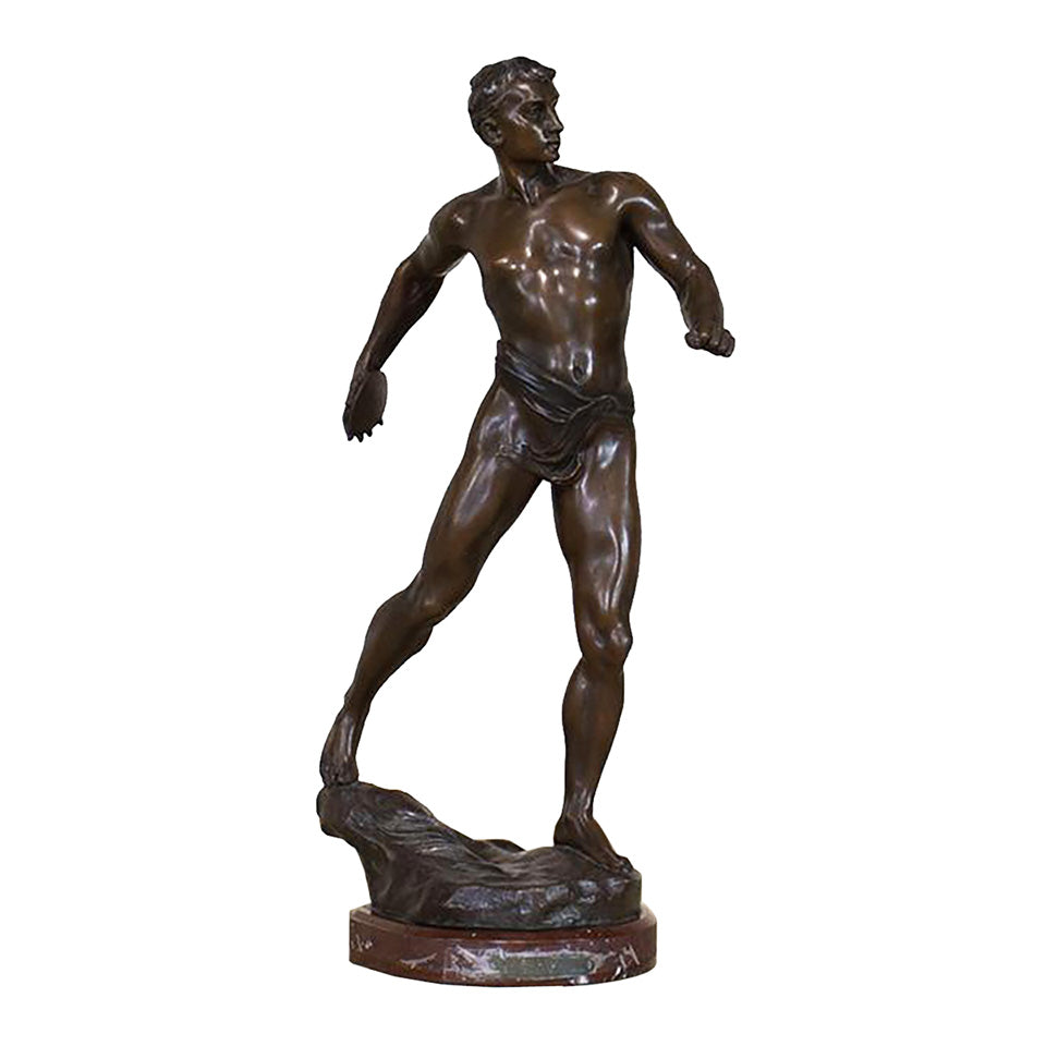 Cast Bronze Discus Thrower Figure, G009