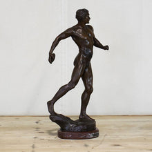 Load image into Gallery viewer, Cast Bronze Discus Thrower Figure, G009