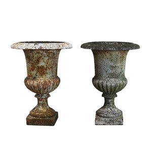 European Cast Iron Garden Urns, G016