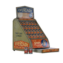 Load image into Gallery viewer, Tin Litho Eveready Flashlight Battery Display, G074