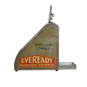Tin Litho Eveready Flashlight Battery Display, G074
