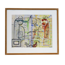Load image into Gallery viewer, Abstract Multi Media in Frame by Verner Molin (1907-1980), G076