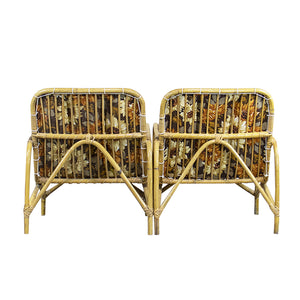 Vintage Bamboo Armchair, Pair, G102