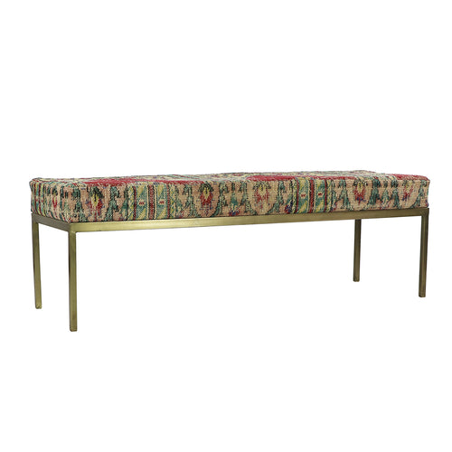 Turkish Vintage Rug Bench, Rectangle, Brass GA151-indBE051