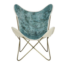 Load image into Gallery viewer, Turkish Vintage Rug Butterfly Chair, Brass GA168-indBE049