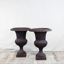 Load image into Gallery viewer, French Cast Iron Planters, Pair, G022