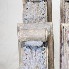 Load image into Gallery viewer, Wood & Zinc Decorative Corbels, Pair, G099