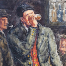 "Load image into Gallery viewer, ""Tavern Scene"" Framed Watercolor by Birger Ljungquist (1894-1965), Signed, G066"
