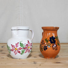 Load image into Gallery viewer, Floral Motif Terracotta Pot, S/2, G018