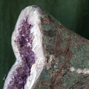 Polished Amethyst Druze on Iron Base, G235