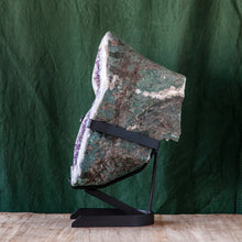 Load image into Gallery viewer, Polished Amethyst Druze on Iron Base, G235