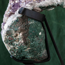 Load image into Gallery viewer, Polished Amethyst Druze on Iron Base, G236