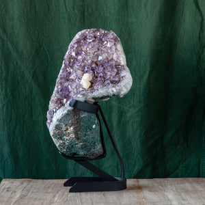 Polished Amethyst Druze on Iron Base, G236